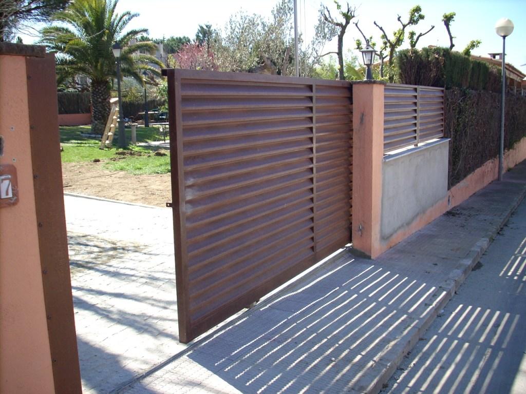 Puertas acero corten barandas acero inoxidable hierro - Puertas de valla ...
